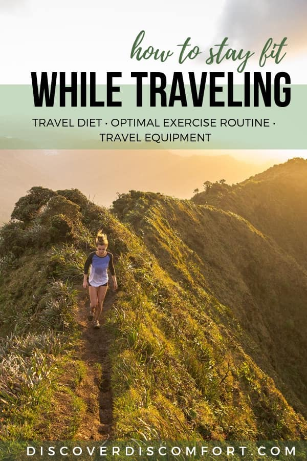 Keeping to a consistent workout and diet when you're traveling or on vacation can be a huge challenge. We're sharing everything you need to know to maintain a sustainable travel workout schedule including everything from workout routines, diet principles, and travel friendly exercise gear.