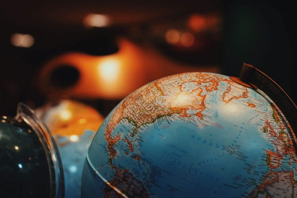 How to choose what language to learn next. This is a picture of a globe, an early version of Google Maps.