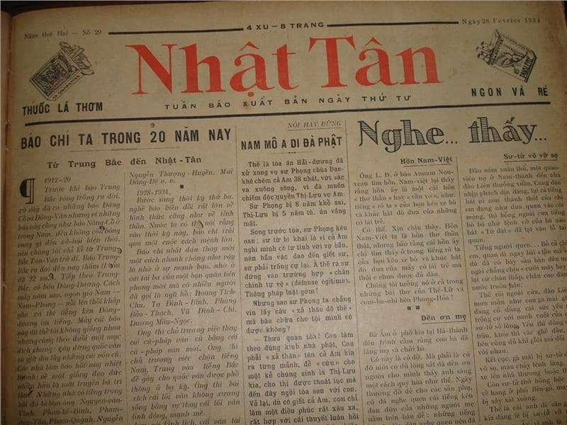 Vietnamese newspaper, showing how it's written
