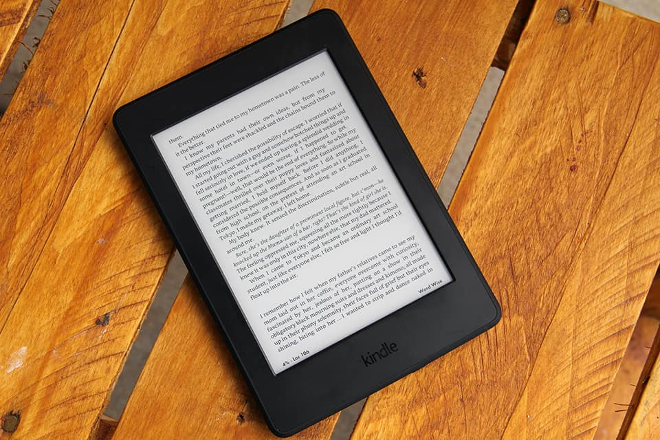 A Kindle Voyage. Moving your library to digital format is a great preparation for moving overseas.