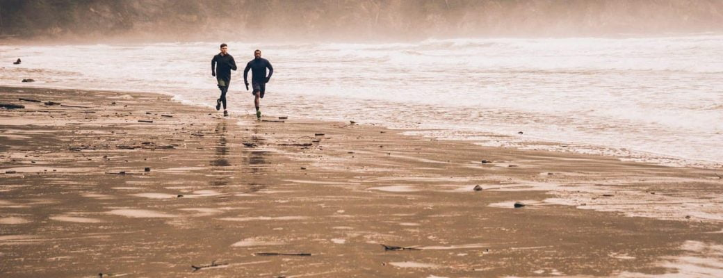 running faster and longer - training running along beaches in Kenya