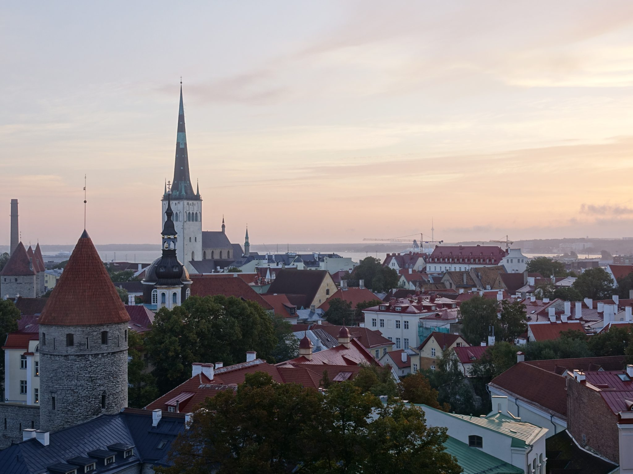 Living in Estonia - View of Tallinn at Sunset