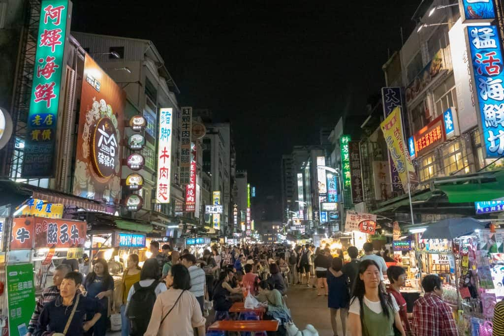 An Asian night market, a classic place to try all the best dishes in Taiwan or China