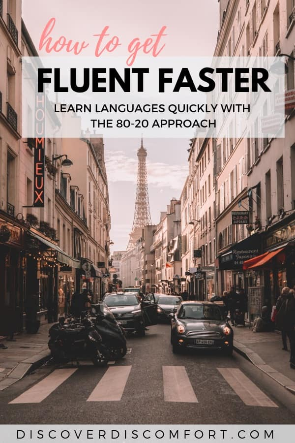 Get fluent faster with easier words by learning an 80-20 vocabulary of the most important words.