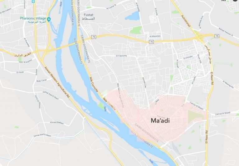 Best Neighbourhoods in Cairo - Maadi - Map of area