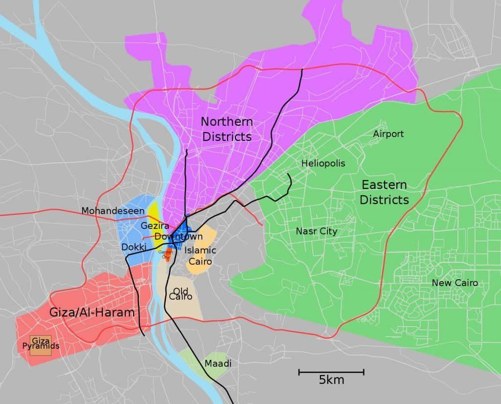 Best Neighbourhoods in Cairo - Map - Wikivoyage
