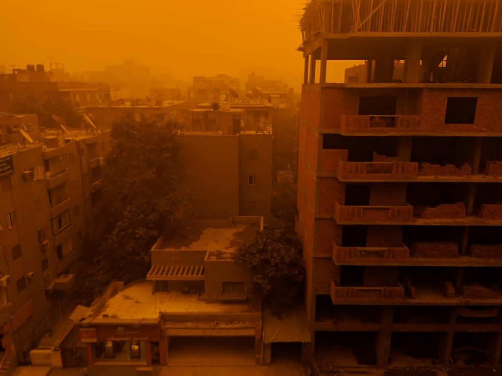 Discover Discomfort - Living in Cairo - Sandstorm view from apartment window