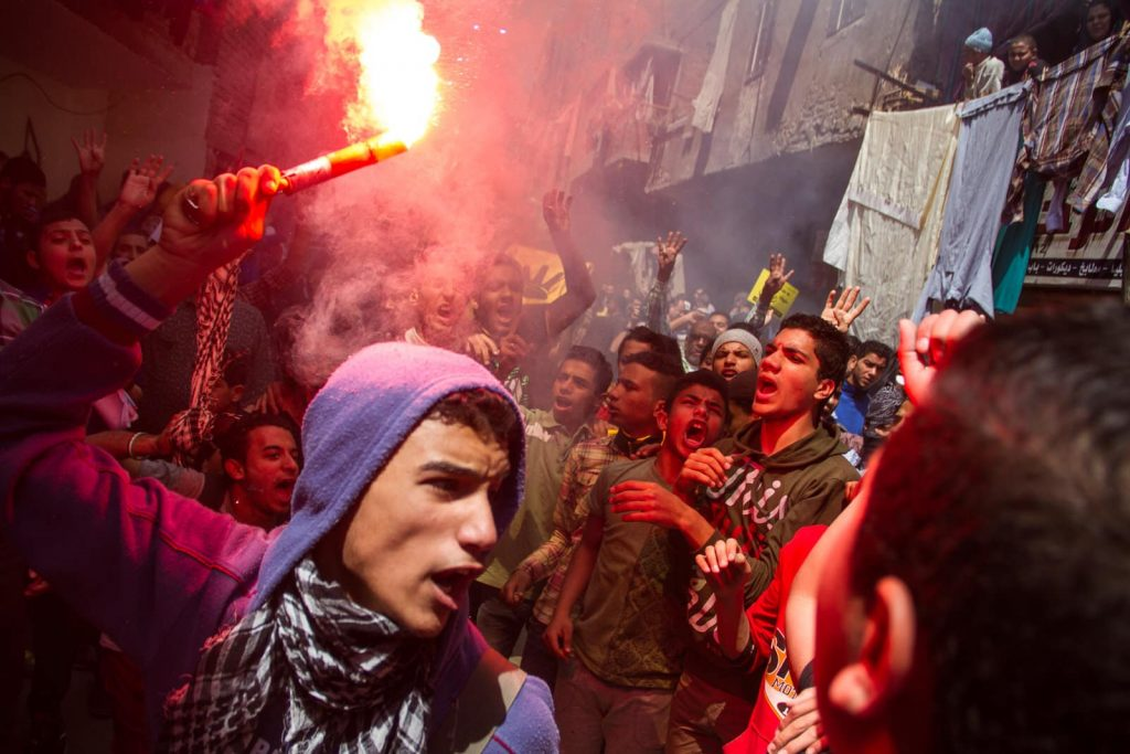 Discover Discomfort - Is Egypt Safe - Picture of a protest in Cairo that resulted in a 15 year prison sentence