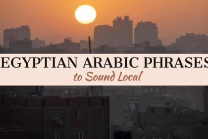 Essential Arabic Phrases to Sound Local - Facebook Cover