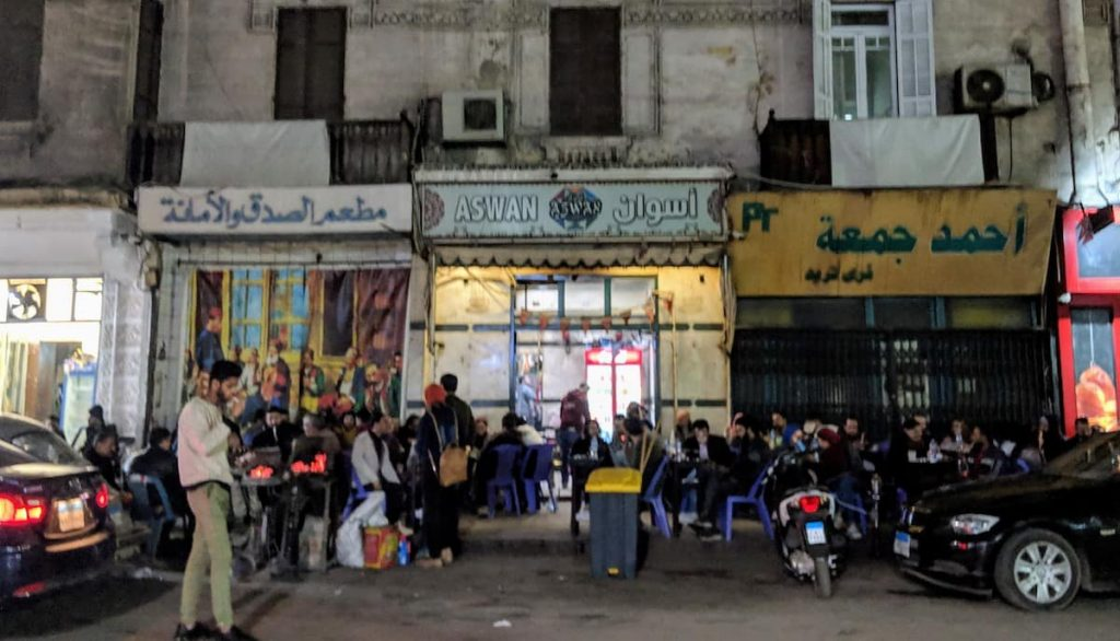Cafe Aswan - a locak 'ahweh in Cairo