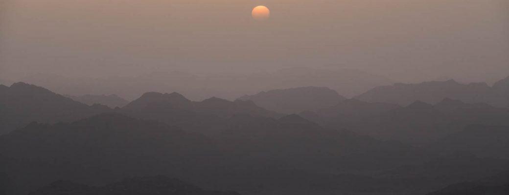 Sunrise over Mount Sinai Egypt