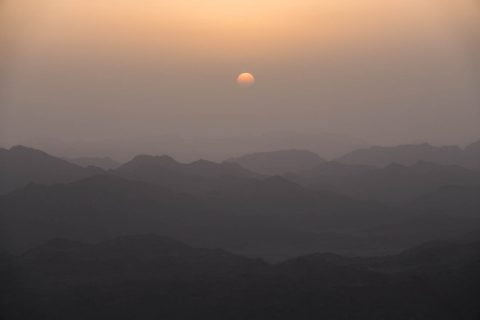 Sunrise over Mount Sinai Egypt