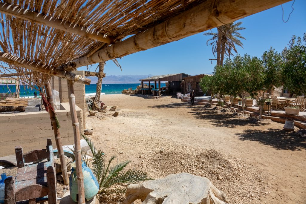 The view at Habiba Community Village in Nuweiba in Sinai, Egypt