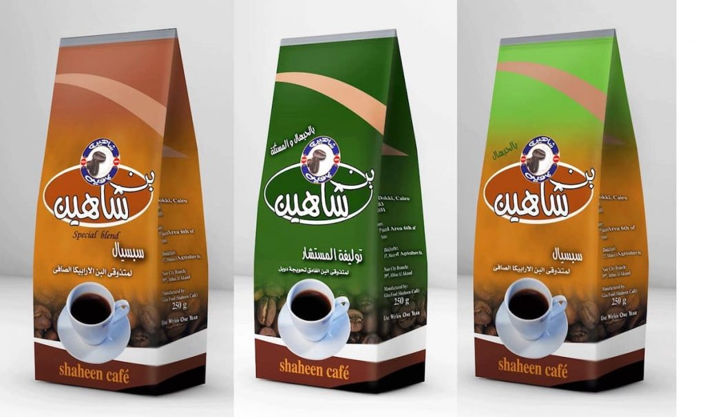 Varieties of arabic and turkish coffee from Shaheen Coffee from Egypt