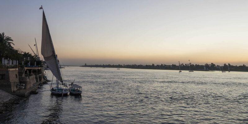 Nile River Sunset Luxor
