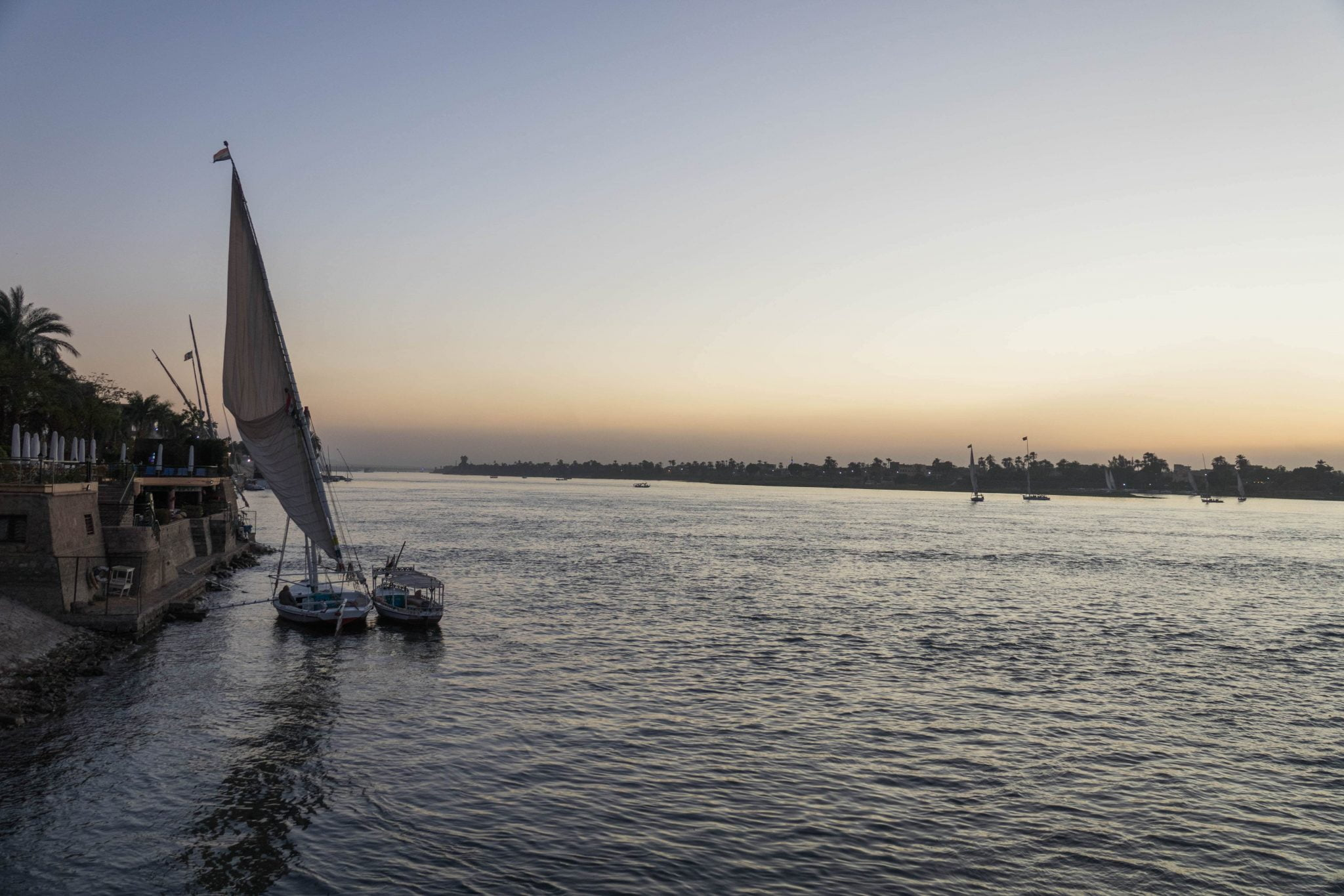 Nile River Sunset Luxor