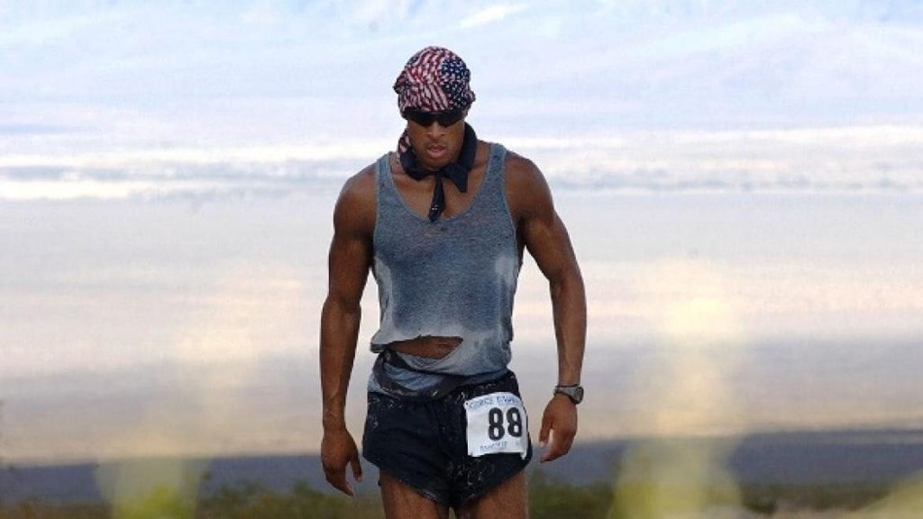 "David Goggins, a famous ultra marathoner, who wrote ""can't hurt me""."