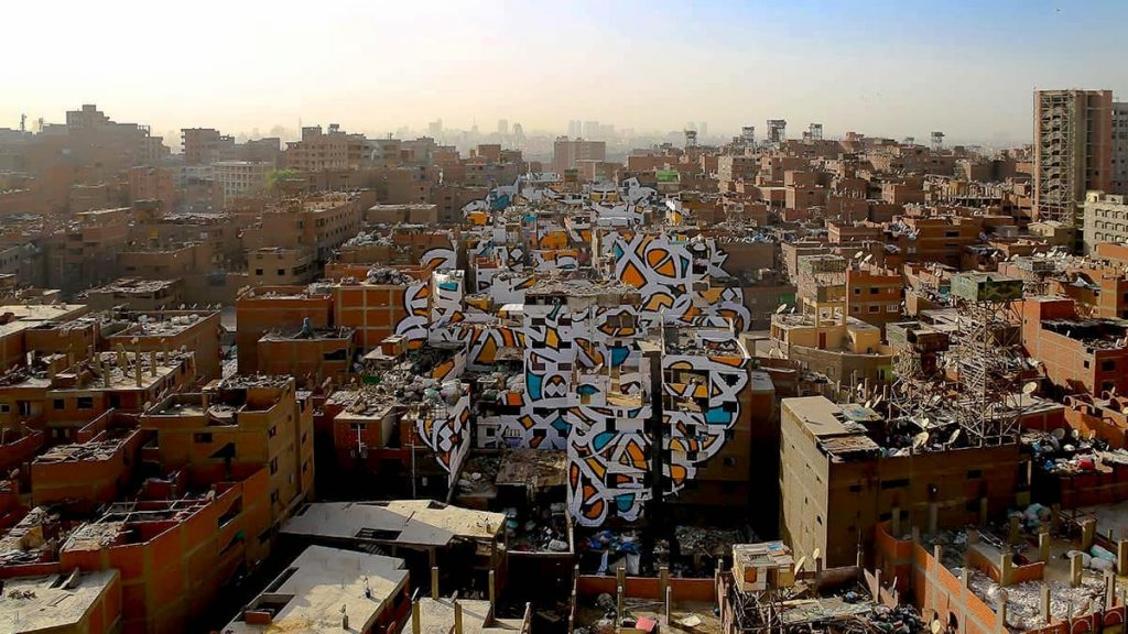 The completed Perception project, an underground street art project challenging people to change their perceptions of people by viewing them from a specific angle.