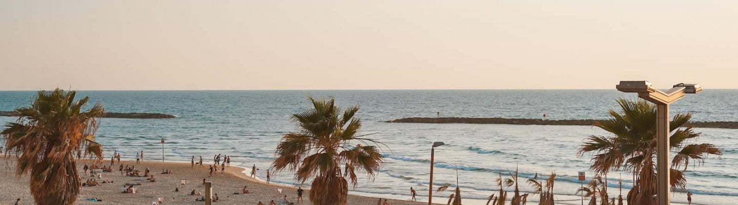 The beach front in tel Aviv. The Beach is a great place to visit in Tel Aviv, but don't live there!