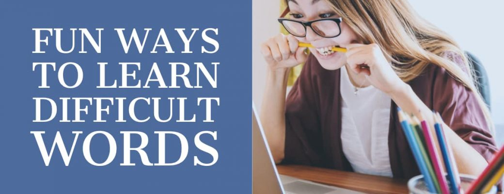 Fun ways of learning difficult words - facebook cover