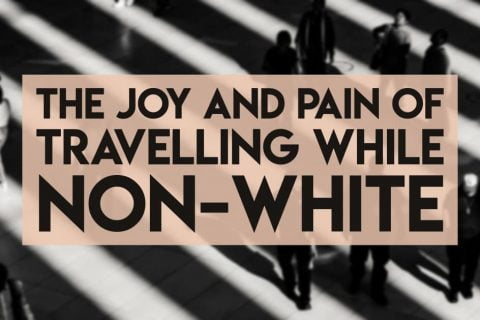 Travelling while non-white - the joy and pain - facebook cover image