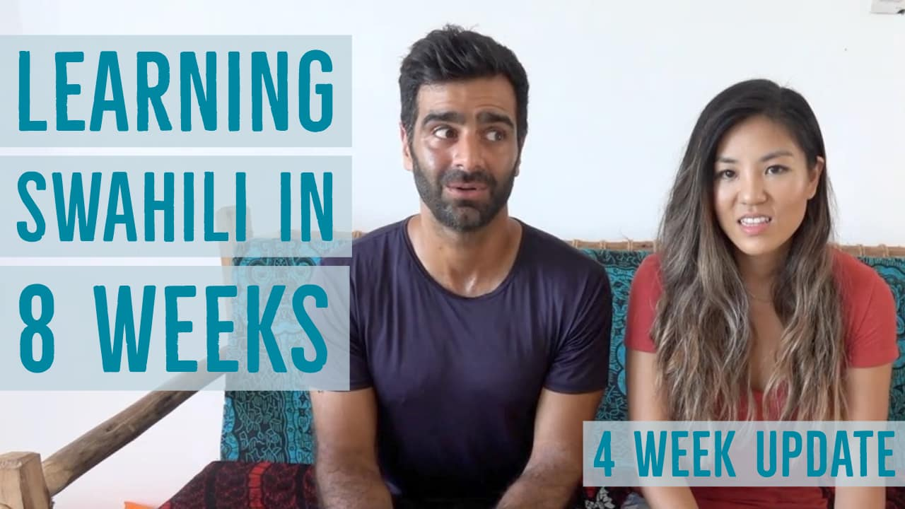 Learning Swahili in two months. One month update video.