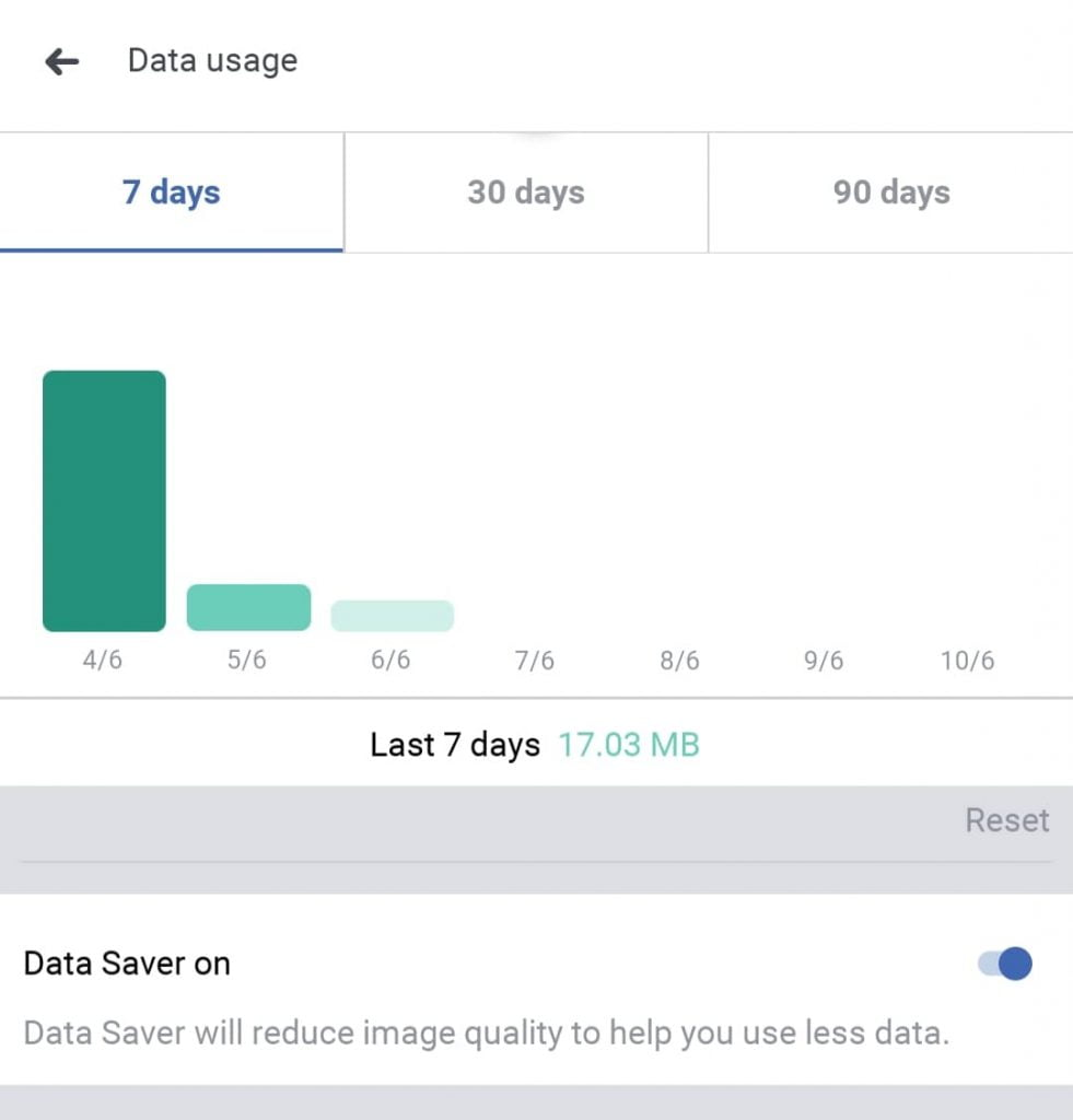 "Use less data on Facebook by triggering ""data saver"" mode"