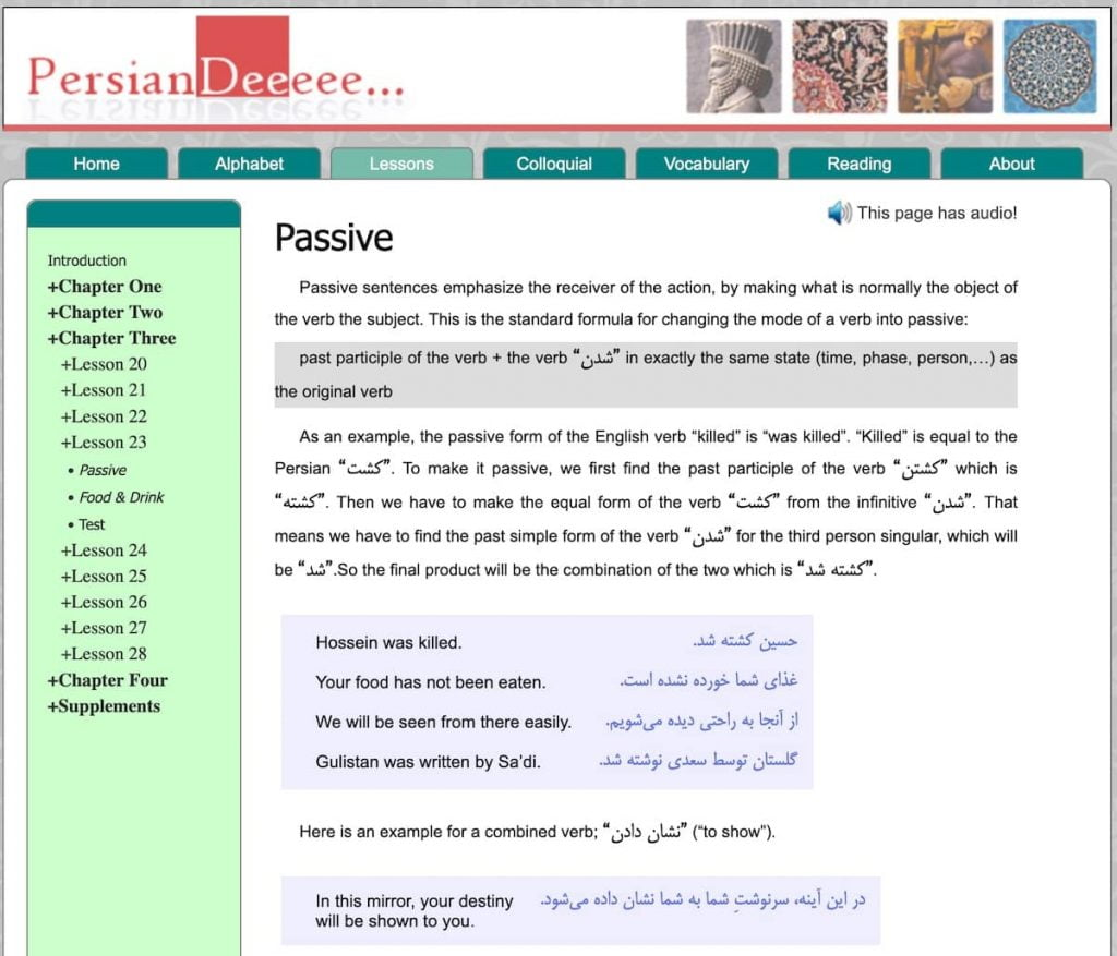 Resources for learning (or improving) Farsi/Persian | Discover