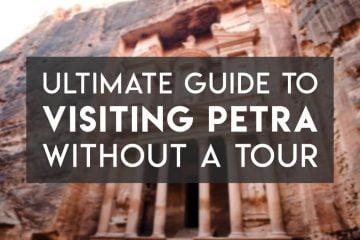 Visiting Petra in Jordan without a tour
