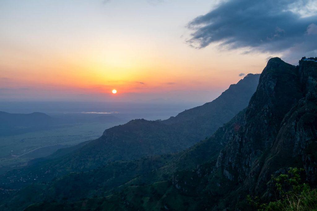 Hiking in Usambara Mountains Tanzania - The Sunset View