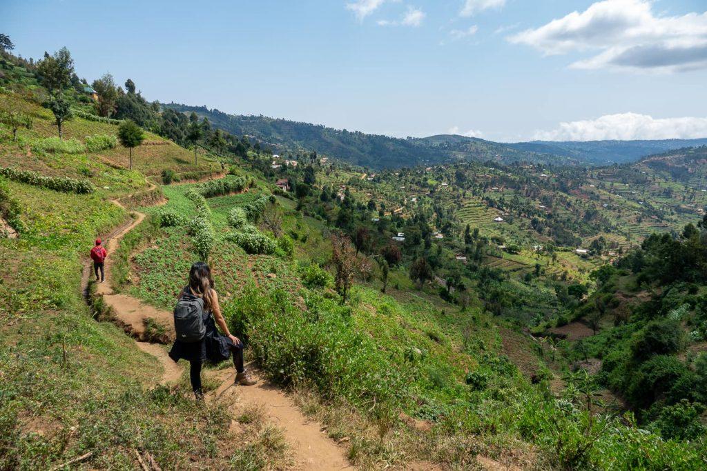 Hiking the Usambara Mountains in Tanzania - Hiking through villages