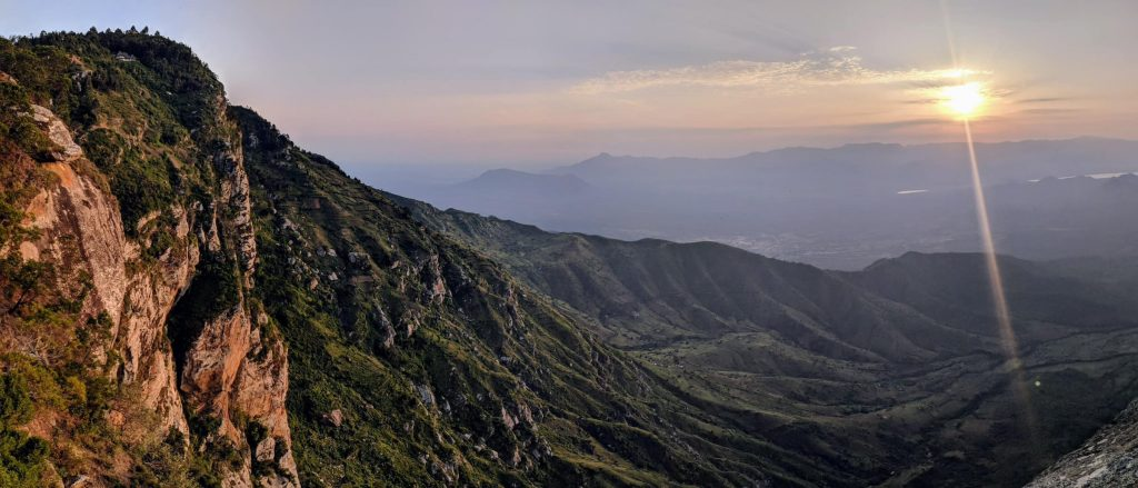 The panoramic view you can see in the Usambara Mountains. One of the best sunsets in Tanzania!