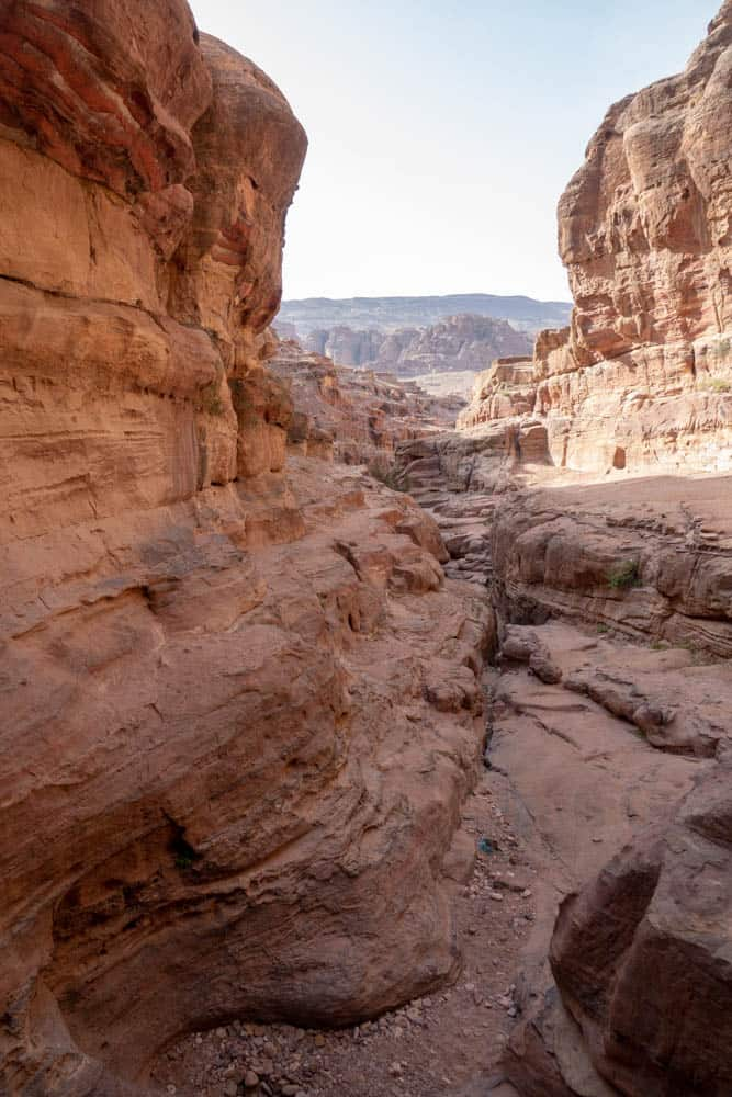 Lion Triclinium Canyon View Petra Trail - hiking trails in Petra