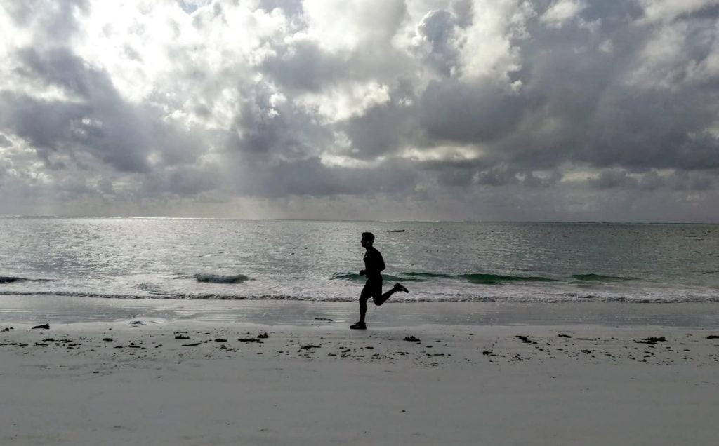 Running in zanzibar, in preparation for running in Iten