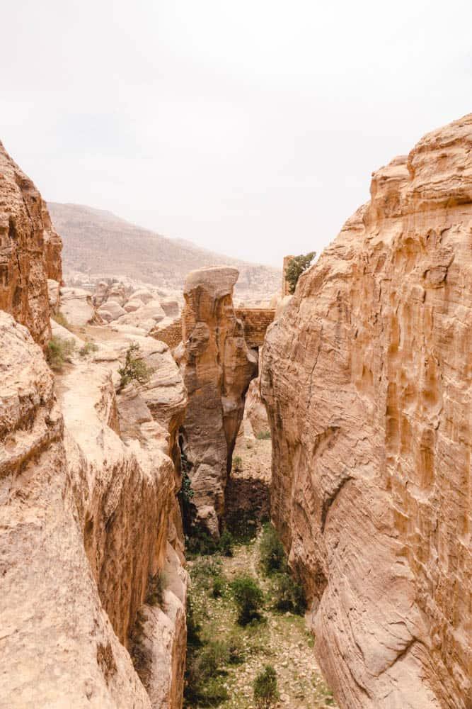 bridge to fortress next to Petra Park