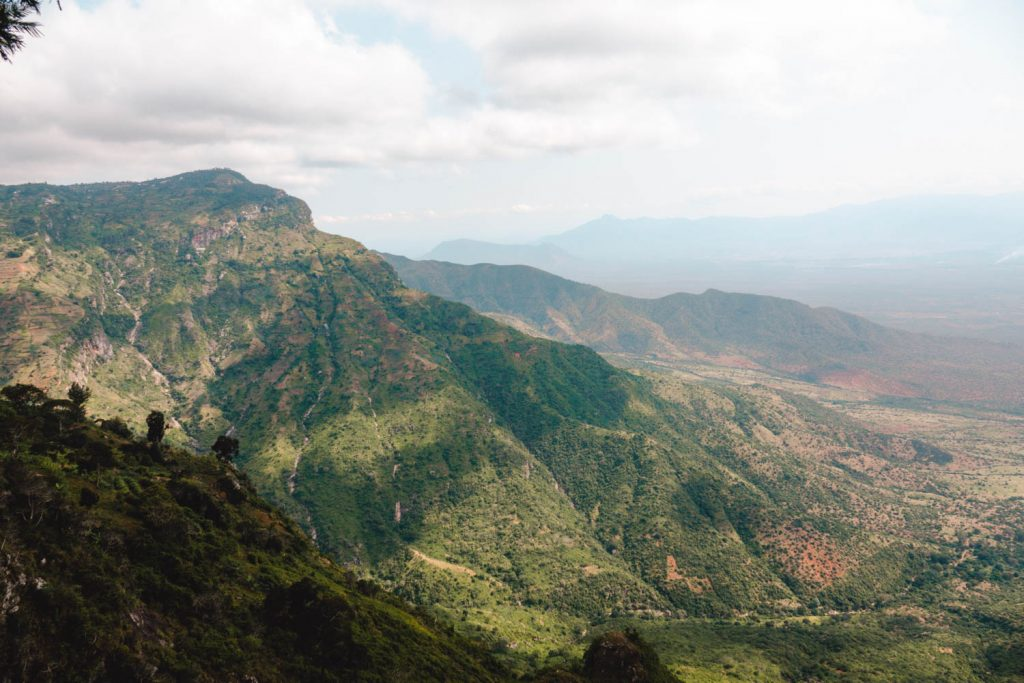 View from Usambara Mountain cliff side
