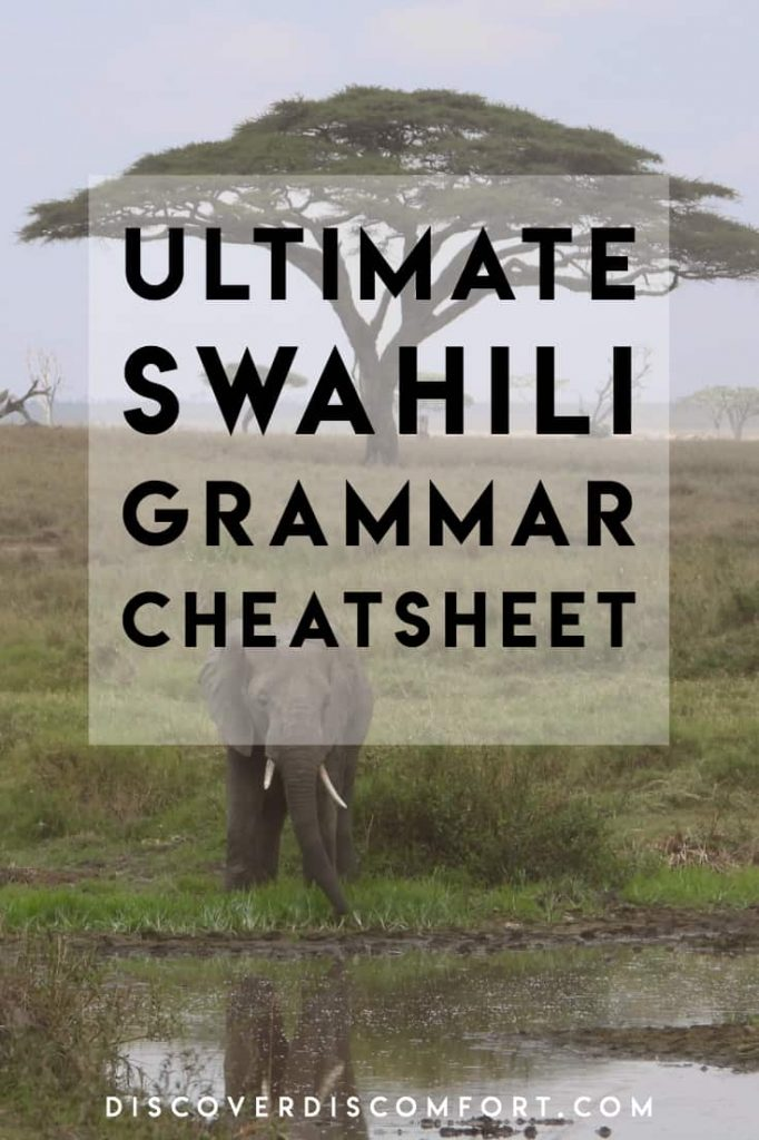 """This is a Swahili Grammar """"cheat sheet"""", a brief summary of one of the hardest parts of Swahili (noun classes) and how to use them in building sentences. We've managed to condense all of this information into an easy to read one page downloadable cheatsheet."""