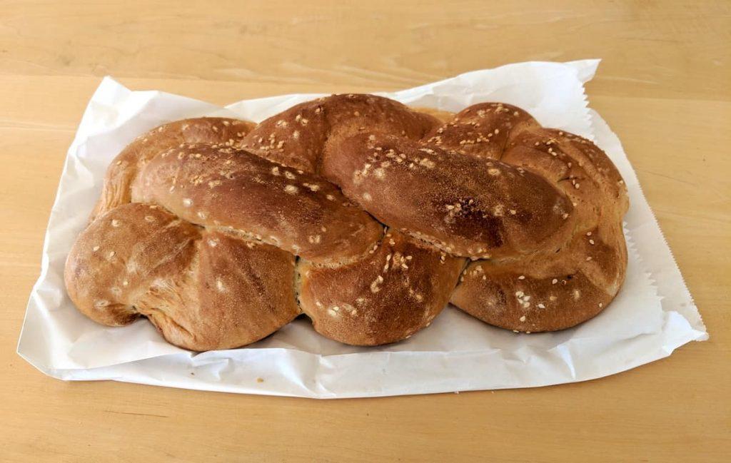 Challah bread in Tel Aviv, Israel