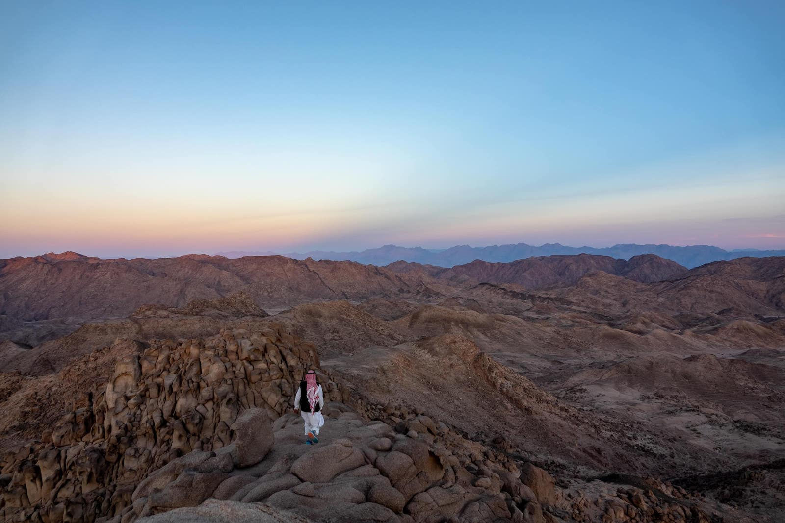 Our friend Hassan the Bedouin walking over his property in the Sinai peninsula
