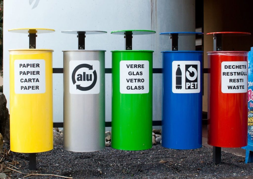 How recycling is disposed of - kerbside recycling bins in Europe