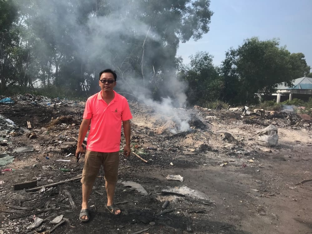 What happens to recycled trash - an illegal recycling-burning dump in Malysia