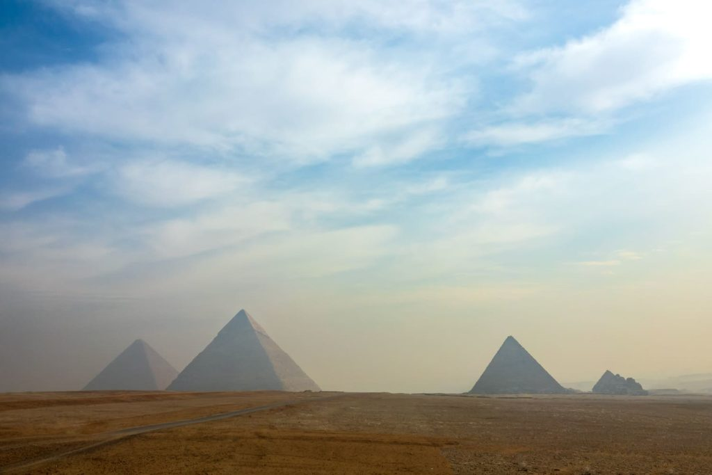 The best view of the Pyramids of Giza