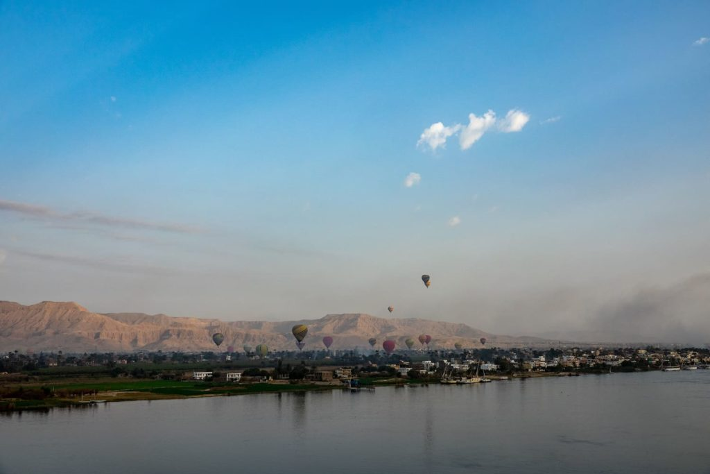 Seeing Luxor in Egypt by hot air baloon