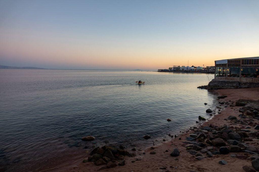 Dahab, in Egypt's South Sinai, at sunrise