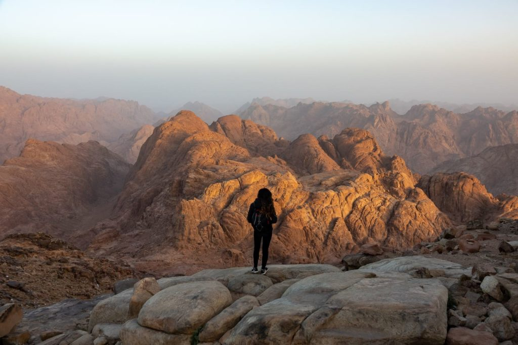 Hiking in Mount Sinai, one of many things you can do in Egypt