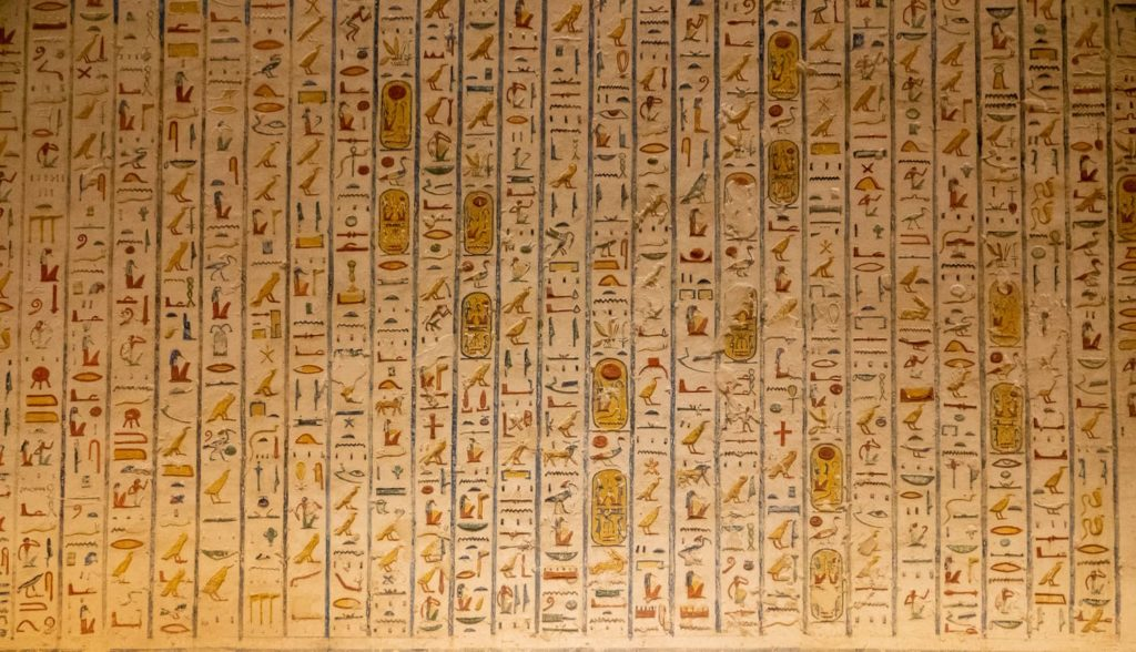 The Valley of the Kings - Hieroglyphics on the walls