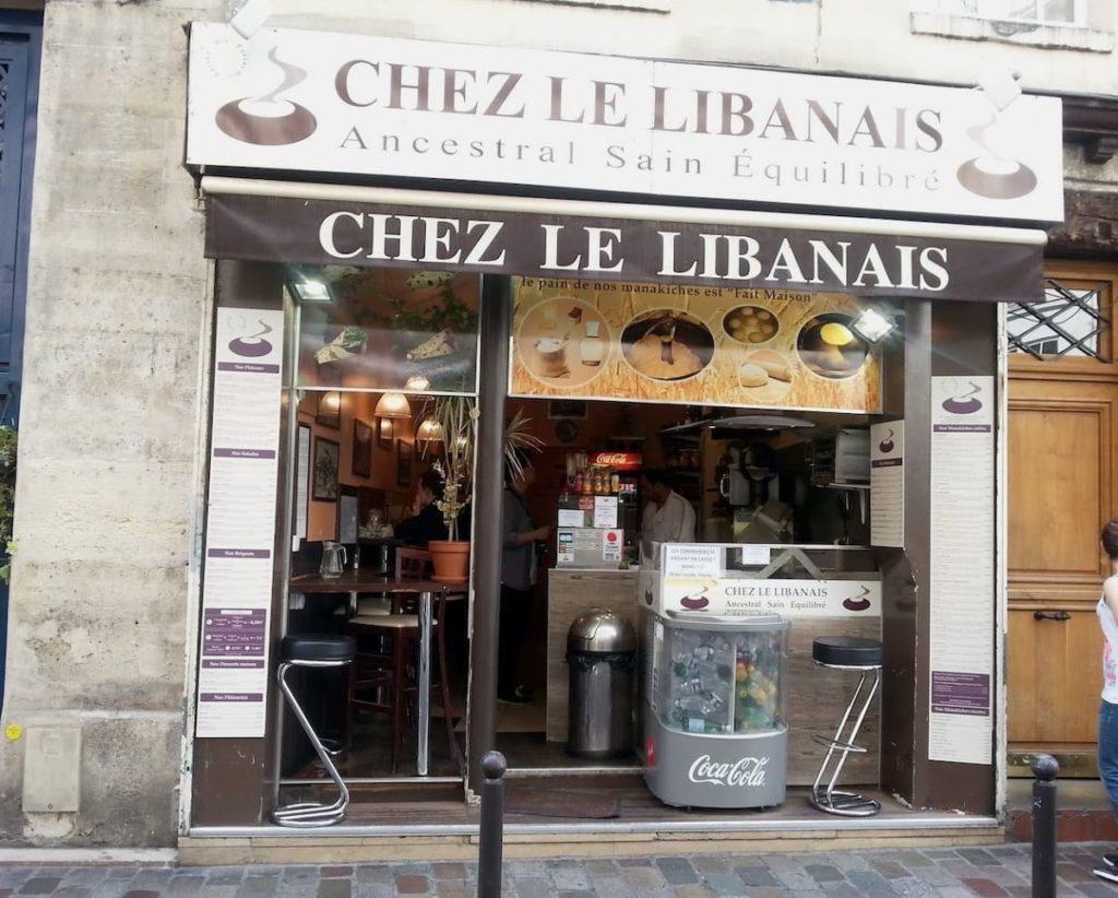 Chez le Libanais lebanese restaurant in Paris