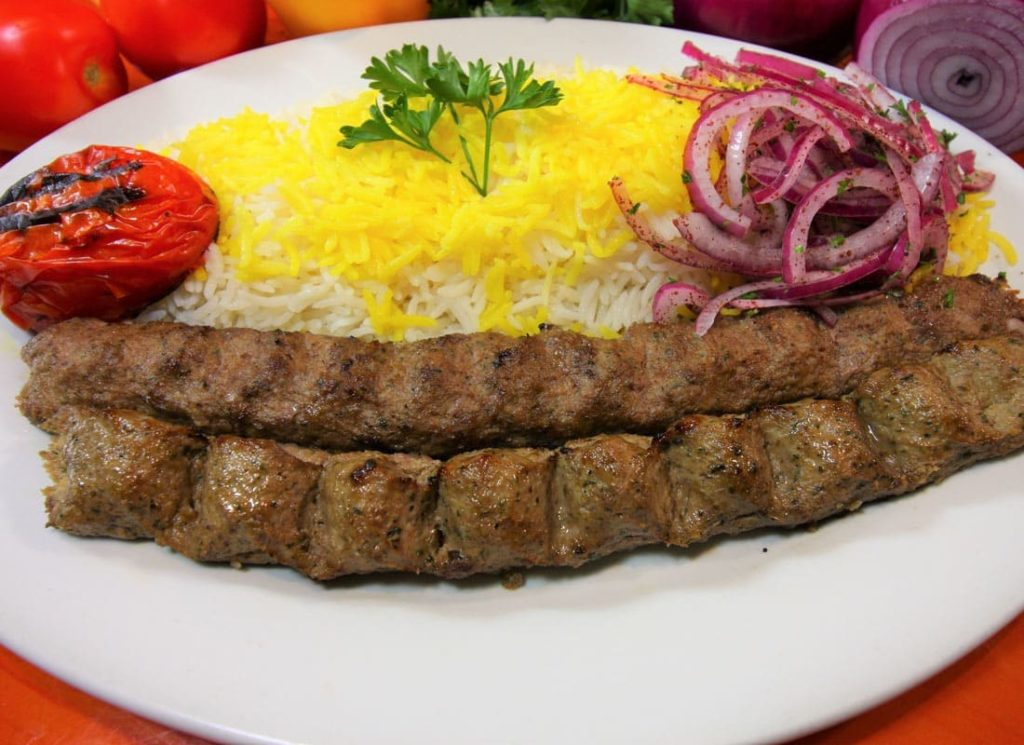 Kabab koubideh from Norouz restaurant in Paris