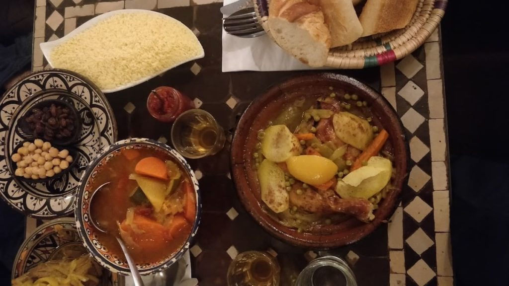 A chicken tagine from Chez Younice - some of the best moroccan food of Paris