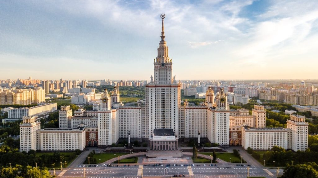 Moscow, capital of the Russian speaking world. Russian is one of the hardest languages to learn for an English speaker